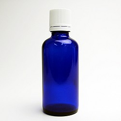 遮光ビン ブルー 50ml 遮光瓶 アロマオイル 保管 保存 詰替え 小分け
