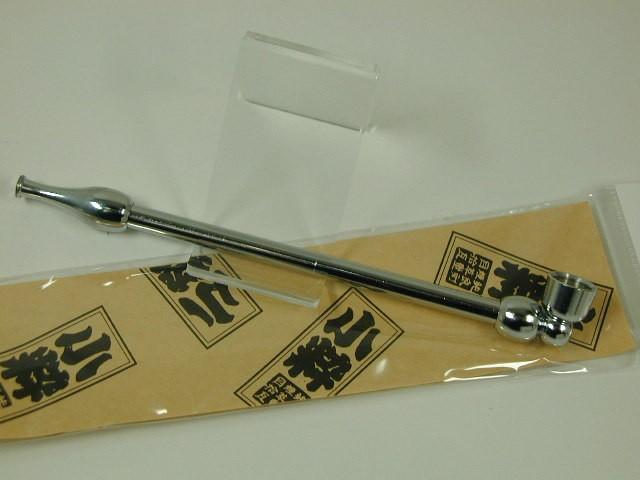 日本製きせる 小粋 こいき煙管 キセル/シルバー銀色122mm新品★きせる小物