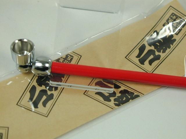 日本製きせる 小粋 こいき煙管 キセル/レッド赤122mm新品★きせる小物