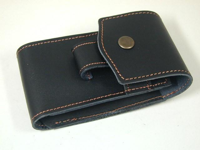 ジッポーZippo 革製 ライター&たばこシガレットケース(黒)新品小物