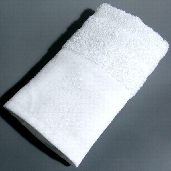 激安! 100匁 木綿地付 (白・シリンダー) ケース買いフェイスタオル