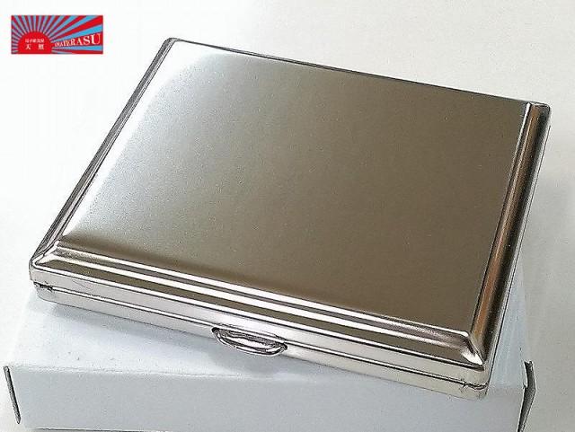 【メタルシガレットケース サンダー シルバープレーン】85mm18本 たばこケース 人気 の シガレットケース ドイツ製