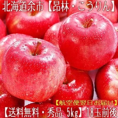 【北海道 余市 りんご】北海道余市産 リンゴ(昂林 こうりん)5kg 18玉前後【最高級 秀品 マッサン】酸甘のバランスの良さは最高傑作!