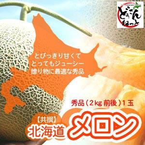 赤肉メロン 北海道 秀品 特大 2kg×1玉 送料無料 ※沖縄は送料別途加算