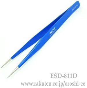 カラーツィーザーセット ピンセット ブルー 直-811-D
