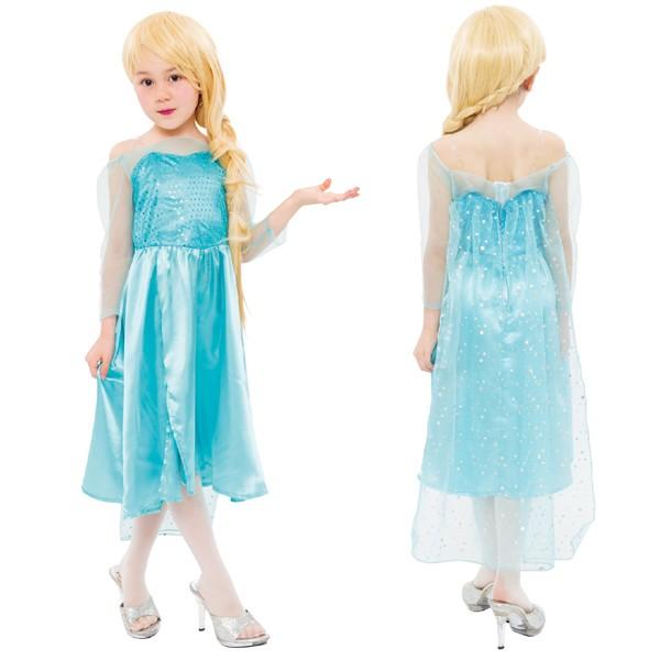 c84e44d480dad メール便対応 ハロウィン コスプレ 衣装 キッズ 子供 ディズニー アナと雪の女王 エルサ風