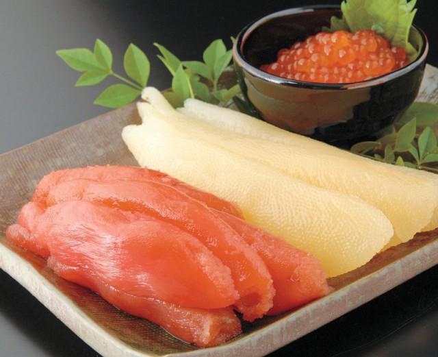 豪華魚卵セット(いくら醤油漬・味付数の子・たらこ) 期間限定 おせち 北海道 おつまみ お歳暮 函館