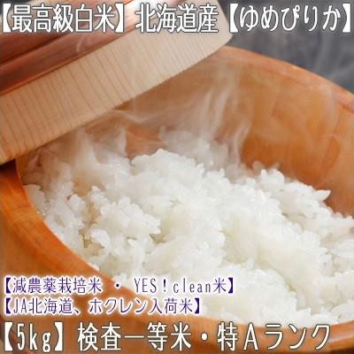 【白米 31年産 送料無料】北海道産 ゆめぴりか 5kg【一等米 5kg×1】北海道 農協 ホクレン入荷米なので安心 安全な【北海道米】お米