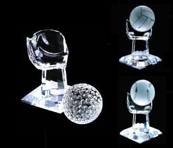 【名入れ/彫刻】スポーツトロフィー/グローブ型★ボールを替えることが可能です。〔ゴルフ、野球、サッカー、バレー、バスケット〕