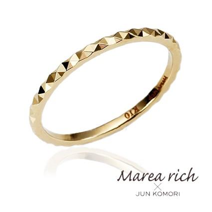 10金ゴールド ピンキーリング 小指用指輪 ファランジリング レディース 女性用 小森純ジュエリーブランド Marea rich マレアリッチ