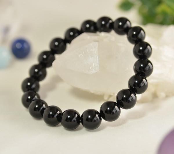 希少 高品質モリオン 黒水晶 φ10mm ブレスレット 天然石 パワーストーン
