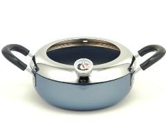 [送料無料]クロワッサン・アクティ温度計付天ぷら鍋20cm