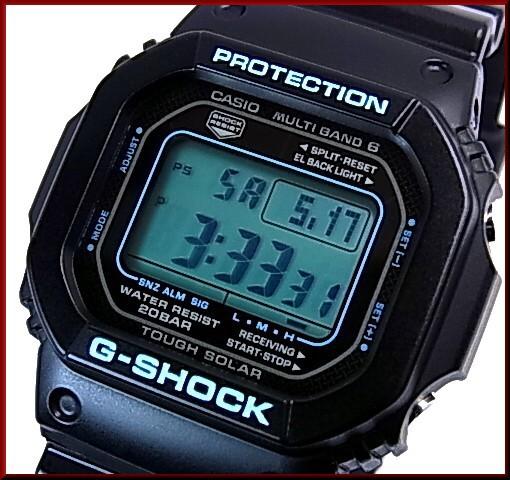 カシオ/G-SHOCK【CASIO/Gショック】ソーラー電波腕時計 マルチバンド6 ブラック×ブルー シリーズ 【国内正規品】GW-M5610BA-1JF
