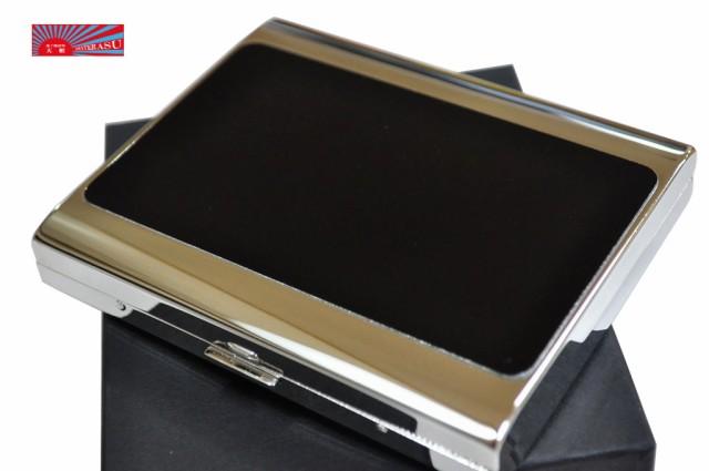 【PEARL】ブラックパネル シガレットケース PALIS 20本 ブランド 85mm 100mm パリス たばこケース 人気 ロング ジッポ ZIPPO 煙草