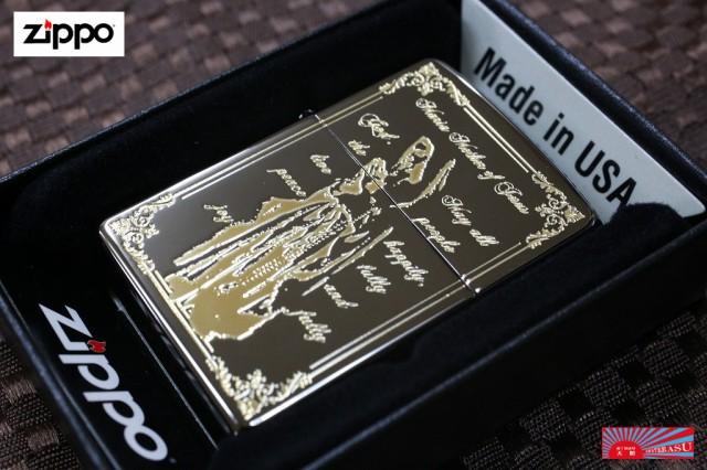 【ZIPPO Maria ゴールド 鏡面 ブラック】 Zippo ライター マリア 金 人気 奇麗 おしゃれ ブランド ジッポ 売れ筋 おすすめ カジュアル