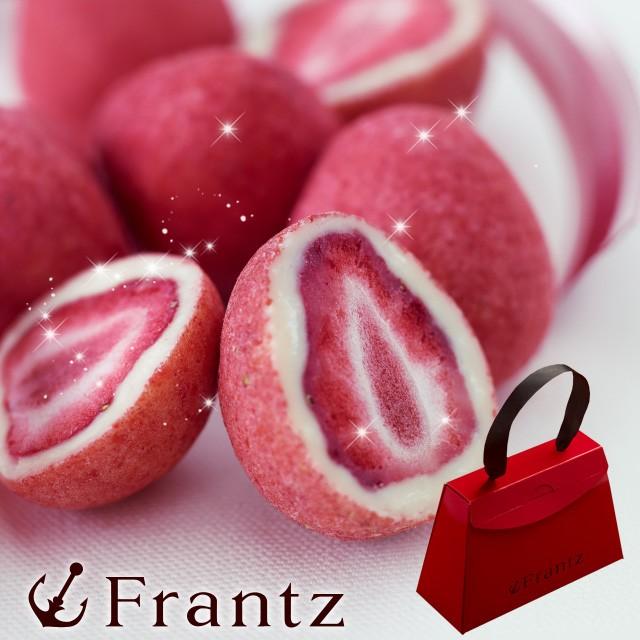 母の日 プレゼント ギフト 苺パウダーをまとったフルーツショコラ 神戸セレブショコラ お取り寄せスイーツ 神戸フランツ