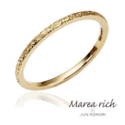 10金ゴールド ピンキーリング 小指の指輪 ファランジリング レディース 女性用 小森純ジュエリーブランド Marea rich マレアリッチ