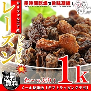 濃厚な甘味♪ノンオイル レーズン たっぷり!1kg(500g×2個) 無添加 送料無料/ほしぶどう/ドライレーズン