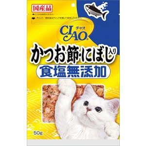 【いなばペット】チャオ かつお節・にぼし入り 食塩無添加 50g