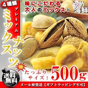 大人のプレミアム♪ミックスナッツ 塩味 お徳用 500g【訳あり ナッツ】送料無料