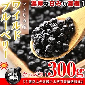 栄養満点★ワイルドブルーベリー お徳用 300g[アメリカ産]送料無料/ブルーベリー