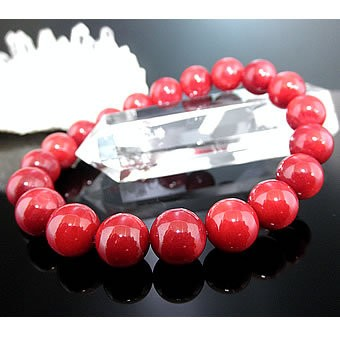 ★赤サンゴブレスレット【高級10mm珠】 赤珊瑚 赤さんご レッドコーラル パワーストーン ブレスレット 天然石 ブレスレット