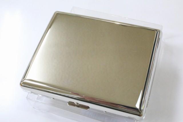 【PEARL】カジュアル メタル シガレットケース シルバーニッケル 100mm ブランド たばこケース メタル 20本 丈夫 ロングサイズ 煙草