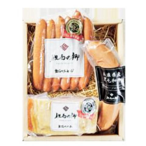 送料無料 ハム・ソーセージ 3種詰合せ のしOK ウインナー 豚肉 但馬の郷/ 贈り物 グルメ 食品 ギフト お歳暮 御歳暮
