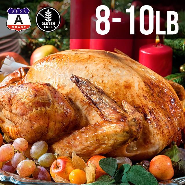 【送料無料】アメリカ産 七面鳥 ターキー 丸 8-10ポンド 約4kg 8-10人用 クリスマス