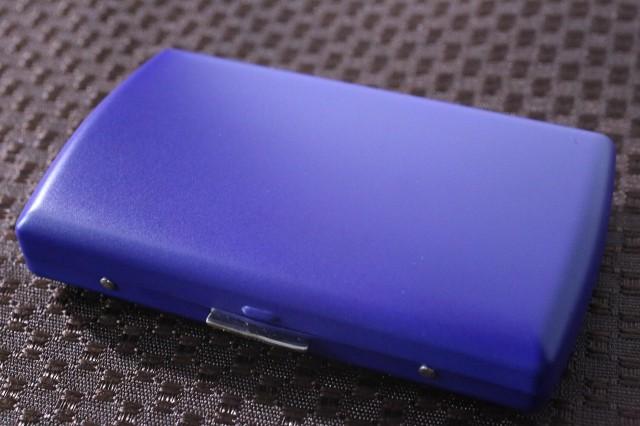 【PEARL】ブランドシガレットケース iQOS (アイコス)ヒートスティック専用 20本 マットネイビー 青 アイコスケース 人気 艶消し青