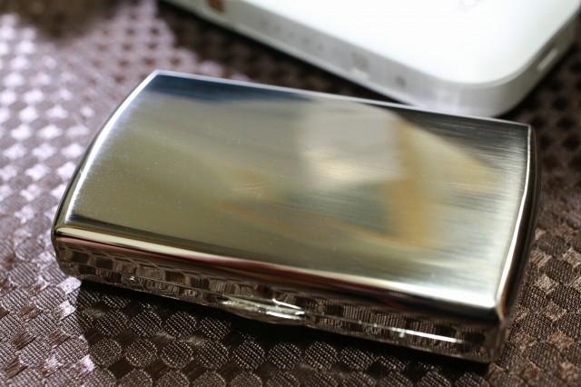 【PEARL】ブランドシガレットケース iQOS (アイコス)ヒートスティック専用 20本 シルバーサテン 銀 アイコスケース 人気 おしゃれ