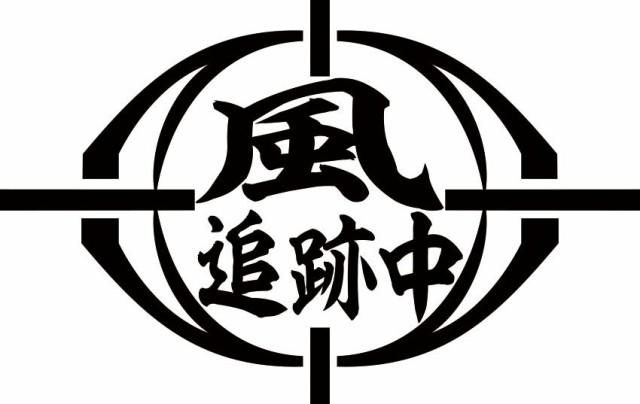 カッティングステッカー 〜 風 追跡中 (2枚1セット) 〜 車 バイク カワイイ オシャレ カッコイイ ワンポイント 目立つ