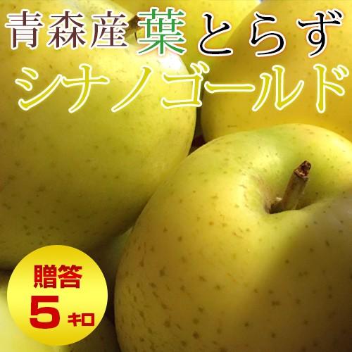 葉とらず シナノゴールド 【贈答用】約5kg(14〜18個前後) ※青森産、りんご、リンゴ、林檎、シナノゴールド、【送料無料:一部地域を除