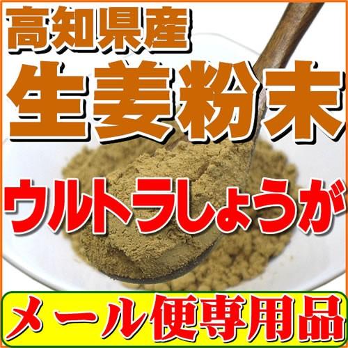 生姜粉末しょうがパウダー 100g 高知県産ウルトラ生姜 殺菌蒸し工程 1cc計量スプーン入り 送料無料