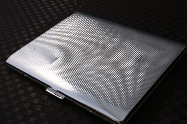 【PEARL】シガレットケース PALIS 10本 エンジンタン ブランド たばこケース 人気 パリス シルバー ロング 薄型 高級 スリム 煙草