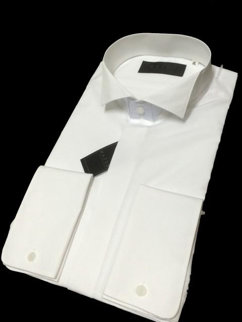 ちょっとグレードアップ【ウィングカラーシャツ】ダブルカフス仕様 お得な<アームバンド&カフスボタン>のおまけ付 |