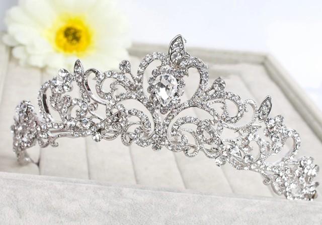 二次会 パーティー ウェデイング ブライダル結婚式 ブライダルティアラ クリスタルティアラ 花嫁ティアラ ヘッドドレス1342sncr