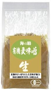 海の精 国産有機 麦味噌 1kg