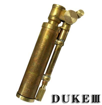 送料140円〜日本製 DUKE III(デューク3)フリント式オイルライター(真鍮無垢 素材のまんまのワイルドブラス)新品正規品