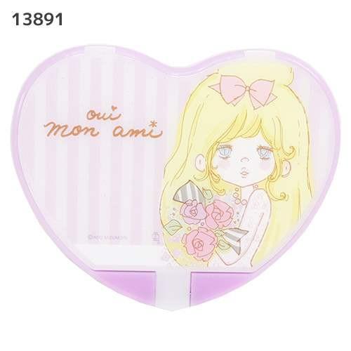 ◆水森亜土 ハート型ミラー【...