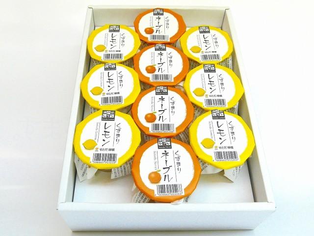 果汁で食べるひんやりスイーツ!フルーツくずきりギフト レモン&ネーブルオレンジ(2種10個入) /お中元/手土産/御挨拶/贈答品