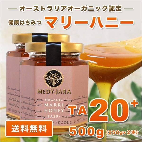 マリーハニー TA 20+ 250g×2本 500g マヌカハニーと同様の健康活性力 分析証明書付 オーストラリア・オーガニック認定 はちみつ 蜂蜜