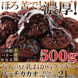 【送料無料】【同梱不可】クッキーリッチカカオ500g カカオ分22%配合でほろ苦い大人の豆乳おから(SM00010273)