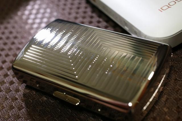 【PEARL】ブランドシガレットケース iQOS (アイコス)ヒートスティック専用 20本 シルバーパターン 銀 アイコスケース 人気 おしゃれ