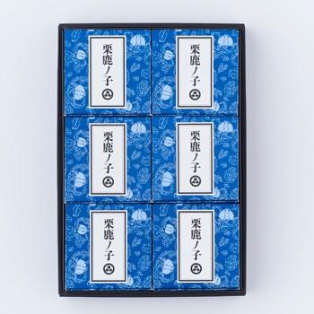 小布施堂栗鹿ノ子ミニ6個入(信州長野県のお土産 お菓子 和菓子 ギフト おみやげ 長野土産 通販 小布施栗菓子 栗鹿の子 くりかのこ)
