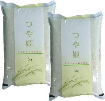 送料無料 令和1年度 出荷当日精米 宮城県登米市産 つや姫 無洗米 10kg (5kg×2) デザインポリ袋仕様 big_dr