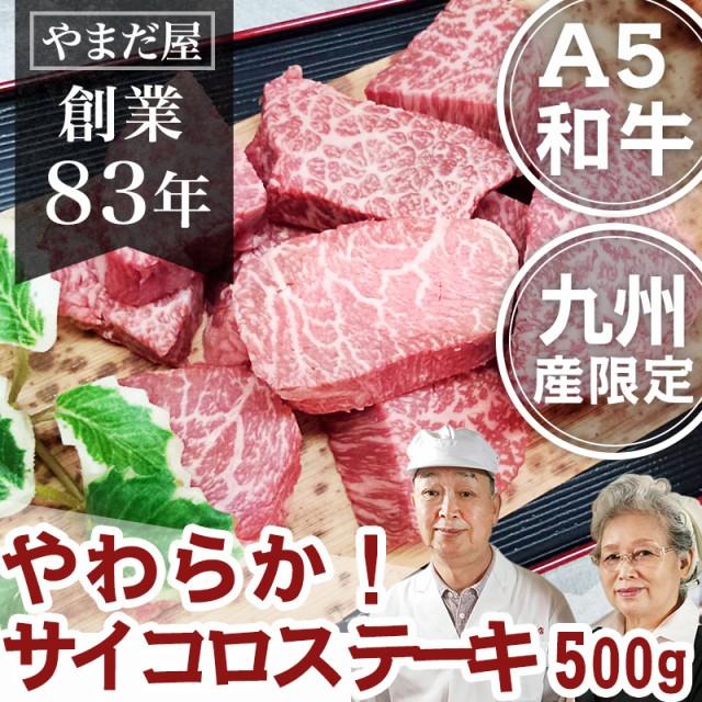 九州産 黒毛和牛(鹿児島黒牛/佐賀牛/宮崎牛)牛肉 和牛 A5 ギフト 贈答 人気 サイコロ ステーキ 500g
