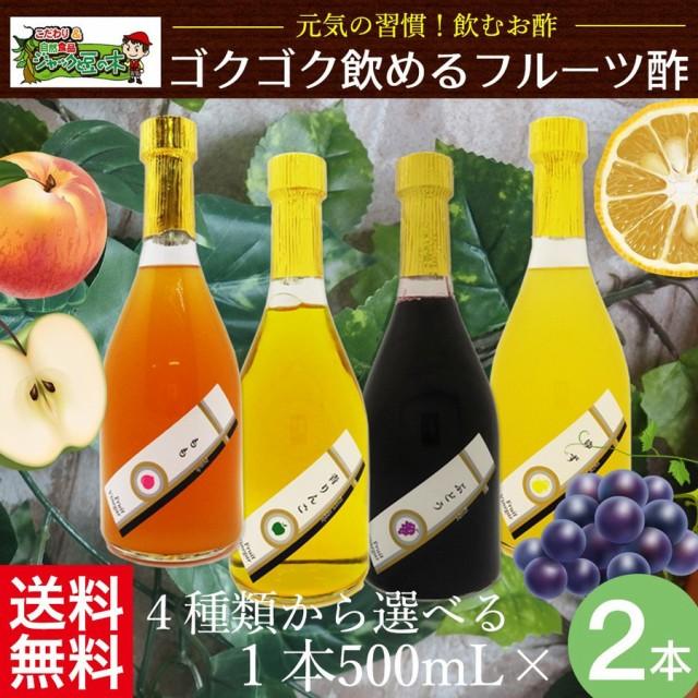 フルーツビネガー【送料無料】「フルーツ酢 500mL 2本セット」 2本お選びください! ギフトに最適!