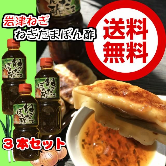 岩津葱ねぎたまぽん酢 500ml×3【ちょっぴりお得な3本セット】【送料無料】