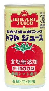 【ケース販売】ヒカリ オーガニックトマトジュース(無塩) 190g×30缶